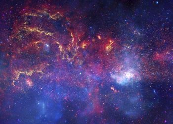 """Center of the Milky Way Galaxy IV – Composite"" by NASA/JPL-Caltech/ESA/CXC/STScI is licensed under CC0"