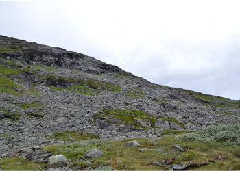 Figure 1: Rock-slope failure in our research area in South Norway. Image courtesy Philipp Marr.
