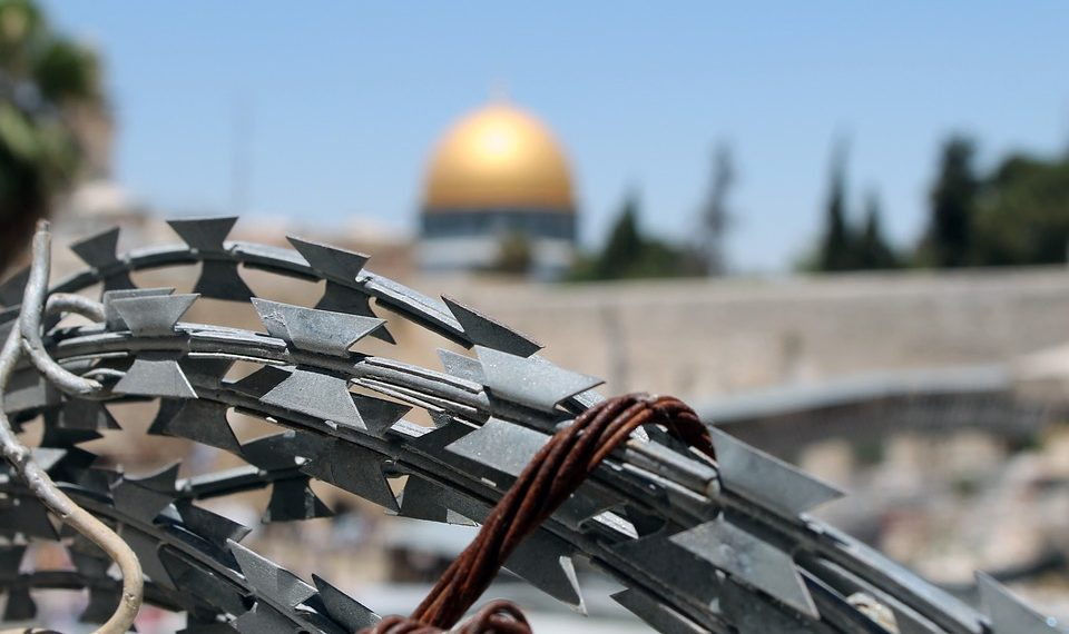 """Jerusalem Palestine Wailing Wall Barbed Wire Israel"" by Maxpixel is licensed under CC0"