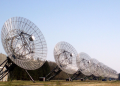 Figure 1. 12 Westerbork telescope dishes involved in the Apertif project. Credit: ASTRON.