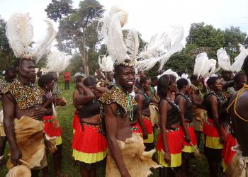 """Acholi dancers"" by Ngumenawe via Wikimedia Commons is licensed under CC-BY-SA 4.0 https://creativecommons.org/licenses/by-sa/4.0/deed.en"